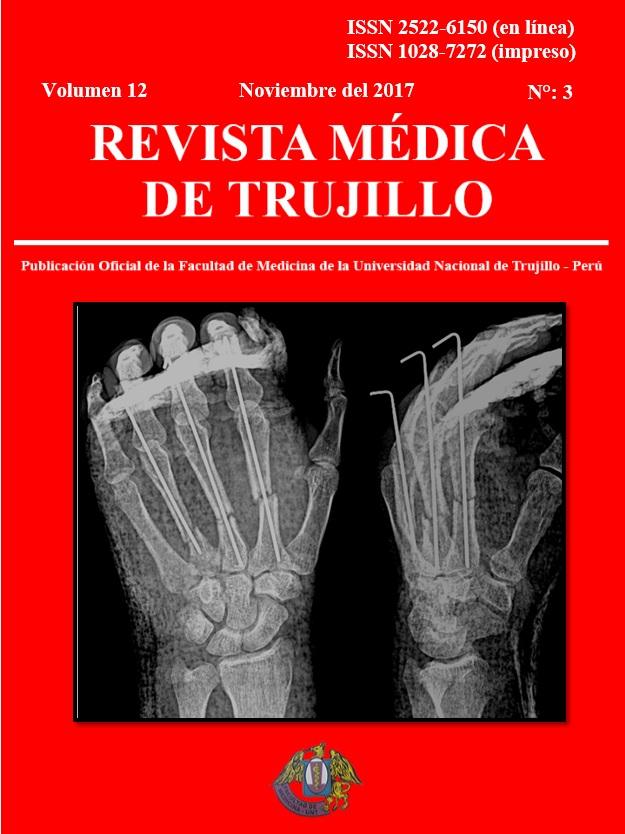 Ver Vol. 12 Núm. 3 (2017): REVISTA MÉDICA DE TRUJILLO